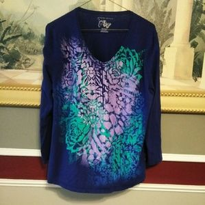 just my size blue long sleeve t-shirt  size 2X